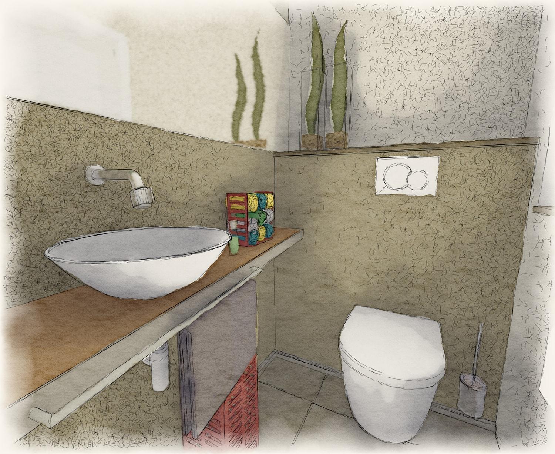 Planung Gästetoilette (aquarell)
